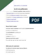 factorizaciòn
