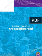 Concept Paper on APR Specialists Panel