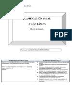 planificación anual GEO 5TO 2012