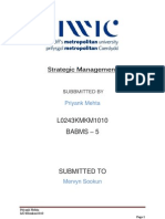 Strategic Management Assignement Priyank