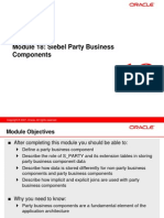 18 Siebel Party Business Components