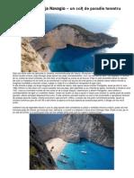 Grecia - Plaja Navagio – un colţ de paradis terestru