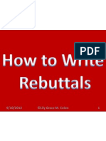 How to Write Your Rebuttal