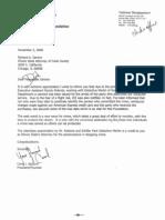 "Carol Spizzirri's 11/2/06 ""Dear Dick"" letter to Cook County State's Attorney Richard Devine"