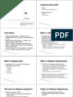 הנדסת תוכנה- הרצאה 1 | מבוא