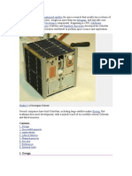 CubeSat is a Type of Miniaturized Satellite for Space Research That Usually Has a Volume of Exactly One Liter