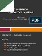 GENENTECH – Capacity Planning Case Analysis
