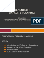 GENENTECH – Capacity Planning Case Analysis