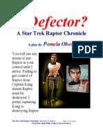 A Defector? a Star Trek Raptor Chronicle