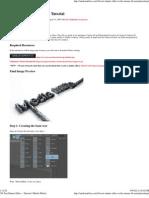 3D Text Shatter Effect – Tutorial _ Media Militia