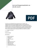 Cómo reparar un desgarramiento en una chaqueta de cuero