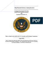 US Security and Exchange Commission - Study regarding Financial Literacy Among Investors