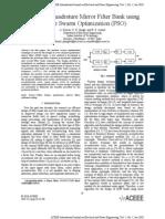 Design of Quadrature Mirror Filter Bank using Particle Swarm Optimization (PSO)