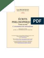 Leon Brunchwick Ecrits Philosophiques t 2