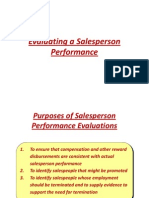 Evaluating a Salesperson