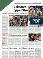 Coppa d'Oro, Trentino di lunedì 10 settembre 2012