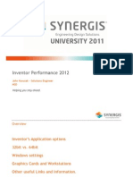 Inventor Performance 2012