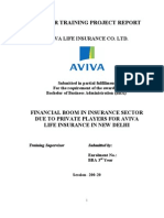 Financial Boom in Insurance Sector Due to Private Players for Aviva Life Insurance in New Delhi
