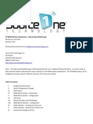 HP MSM Wireless Deployment – Step by Step Walkthrough__