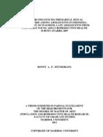 Factors Influencing Premartial Sexual Intercourse