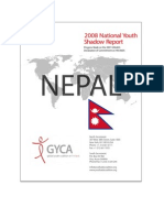 National Youth Shadow Report 2008 Nepal UNGASS on HIVAIDS