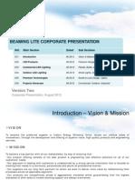 Beaming Lite Corporate Presentation