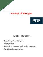 Hazards of Nitrogen on Merchant vessels