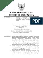 UU No. 7 Tahun 2012 Penanganan Konflik Sosial