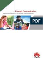 Globalny raport CSR Huawei
