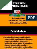 Strategi Epidemiologi ( Dr. Boediharto )