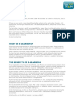 E Learning - what's it all about?