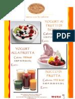 Menutrix Bar La Yogurteria Italiana Con Le Calorie