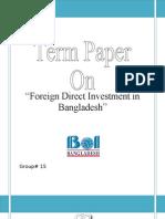 Term Paper on FDI