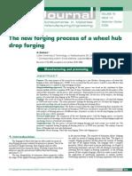 The New Forging Process of a Wheel Hub Drop Forging