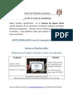 APPU Jubilados y AARP invitan a Charla REFORMAS AL SEGURO SOCIAL Y COMO NOS AFECTAN