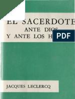 Leclercq, Jacques - El Sacerdote Ante Dios y Ante Los Hombres