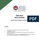 KRM3023 Ukuran Asas PANDUAN KURSUS Latest