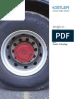 스위스 Kistler사 도로 차량 무게 계측 시스템(WIM)