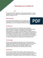 Definiciones relacionadas con el análisis de células T