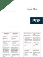 Sancta Missa lingua latina_español