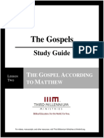 The Gospels - Lesson 2 - Study Guide