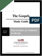 The Gospels - Lesson 3 - Study Guide