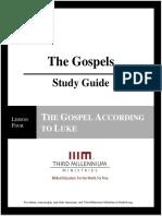 The Gospels - Lesson 4 - Study Guide