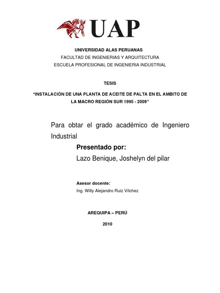 universidad alas peruanas caratula tesis final