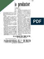 cartel anarquista Peru Abril 1913