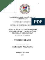 Analisis de Puente, por SAP 2000
