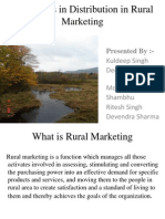 Challenges in Distribution in Rural Marketing