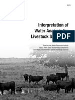 c274 interpret water analysis for livestock suitability