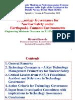Technology Governance foe Nuclear Safety under Earthquake-Tsunami Environments