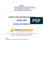Apostila de Excel 2007 para Concursos